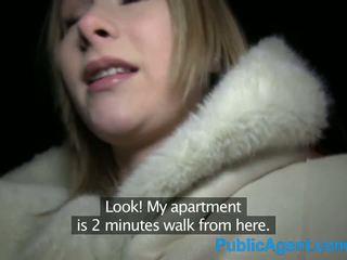 Publicagent สวย บลอนด์ fucks ใหญ่ ควย ใน โรงแรม ห้อง