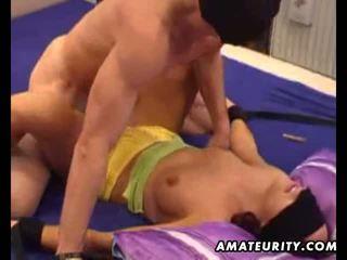 Amatir ex moderate sucks and fucks with rai