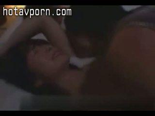 sexo oral, japonês, lambendo vagina, milf
