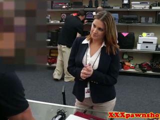 Bigtitted pawnshop amateur cockrides for cash