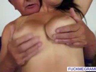 brunette more, quality big boobs, new blowjob