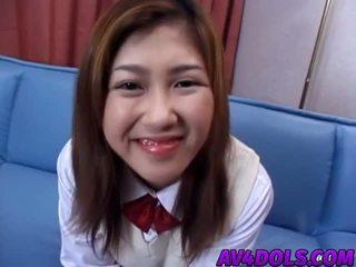 Asia rumaja shows bokong and swallows hard jago in hot bukkake
