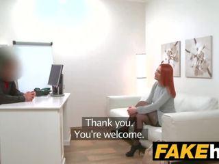 Fake agent 角质 红发 prefers 硬 公鸡 以上 湿 的阴户