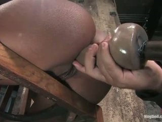 Monique tied to a chair and gets bokong fucked with dildo