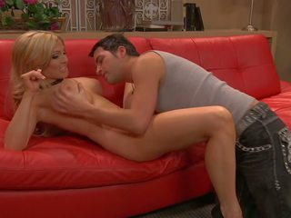 Sex on Red Sofa and Jizz on Tits, Free HD Porn c3