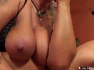 Vovó having anal sexo com a foder máquina