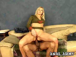 Superb Blonde Army Hooker Celestia Star Masturbating Her Sexy Asshole