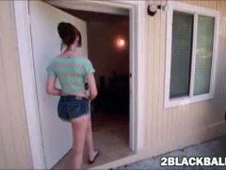 Slim Bodied Alana Rains Pleases Her First Mighty Black Dick