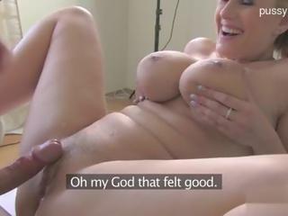 big tits, casting, blonde