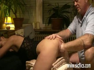 Brutally fisting the wifes ruined pussy