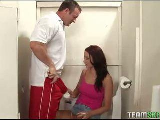 Her 1st deep penetration