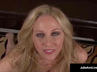 Mega verdorben milf julia ann talks dreckig & tief throats