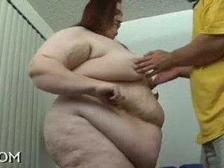 bbw, obciąganie, rudowłosy, tłuszcz