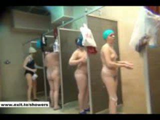 kukkoló, zuhany, nyilvános, orosz