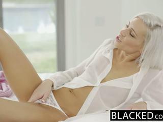 Blacked preppy blondīne draudzene kacey jordan cheats ar bbc