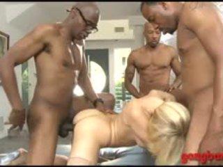 Big Tits Blond Kagney Lynn Karter Anal Ripped By Black Dicks