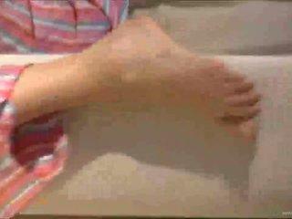 Sasha บลอนด์ finger ร่วมเพศ ตนเอง