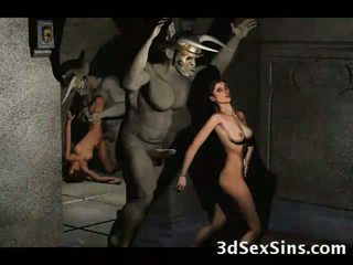 3d demons fuck gyzykly babes!