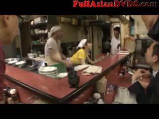 जापानी, blowjob, बालदार, किशोर