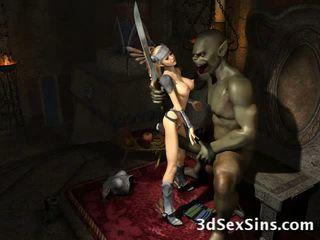 Weird Monsters Fuck 3D Babes!