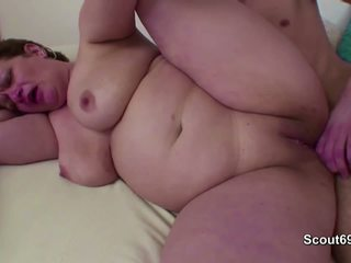 Mommy Caught Step-son Masturbate and Help with Fuck...