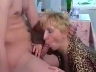 Drunk mature mom fucked by young son