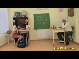 wild Hardcore with naughty schoolgirl
