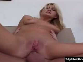 Blonde Teen Stacy Thorn Meets Up With Her Man For Sex And He