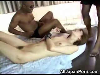 Japanese Girl vs Black Cocks!
