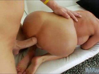Massive tits TS Kimber James anal ripped