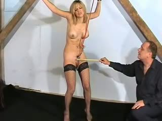 Extreme pussy pain and bound punishment