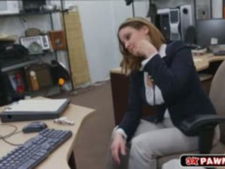 Foxy Sexy Lady Got Fucked At The Pawnshop While On Video