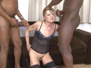 grannies, trio, interraciale, hd porn