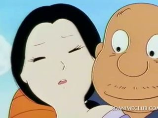 Mature anime asian fucked outdoor by her horny guy