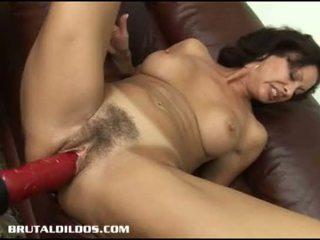 brunette, toys, masturbating, cougar