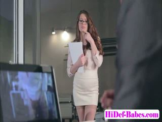Horny babe Veronica Vain gets fucked at the office in doggystyle
