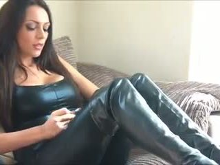 Sexy Smoking Leather Girl, Free High Heels Porn Video e1