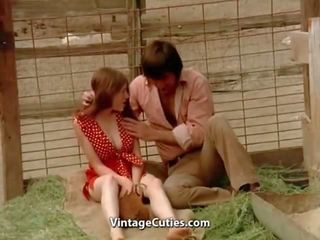 Hot Teen Sex in a Pig Paddock 1970s Vintage: Free Porn 35