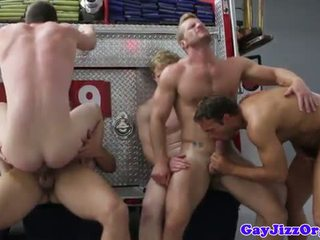Charlie Roberts ass fucked on fire truck