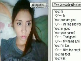 Enii, a 19yo south american girl, appeared on Chatroulette