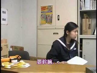 iskolás, kemény, ázsiai