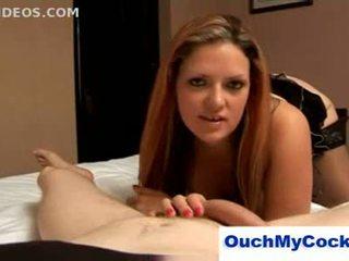 Rebecca ryder swears bei unlucky boyfriend und gives ihm ein co