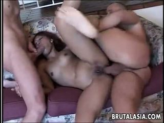 Kinky foursome with a hot Asian babe