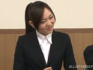 Japanese Female Gives A Cocksuck In The Presence Of Her Chick