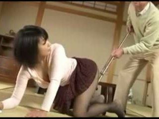 Old man and Sexy Japanese Young Wife