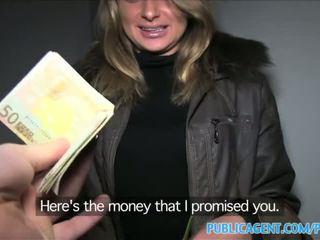 Publicagent loud 섹스 와 뜨거운 러시아의 아기