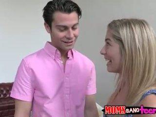 Hot stepmom shows teens few sex tricks