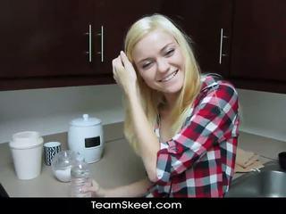 ShesNew Skinny blonde teen Chloe Foster POV homema