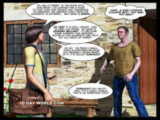 방 용 임대 3d 명랑한 animated 만화 comics