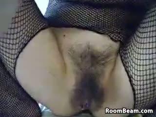 webcam, solo, masturbācija, matains